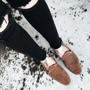Pedro Garcia perforated suede loafers